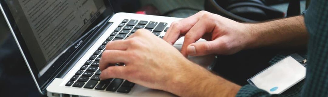 5 Tips for Starting a Digital Business - image - hands typing on laptop keyboard