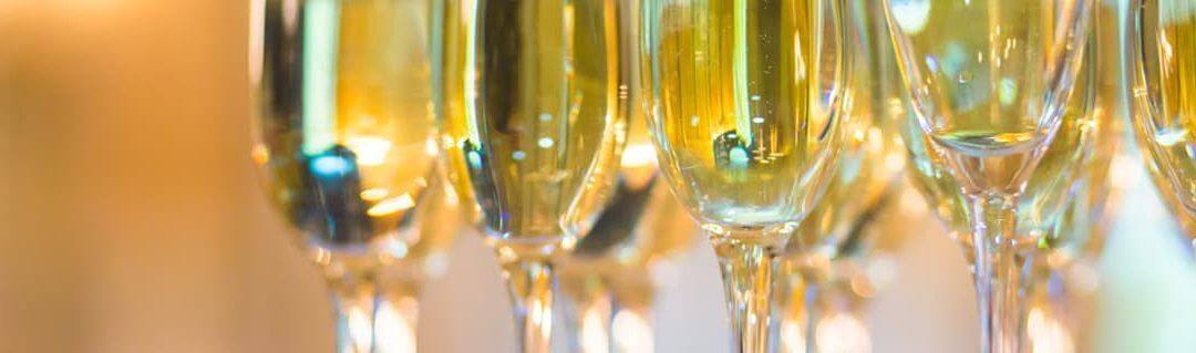 Starting An Event Planning Business image - filled champagne flutes